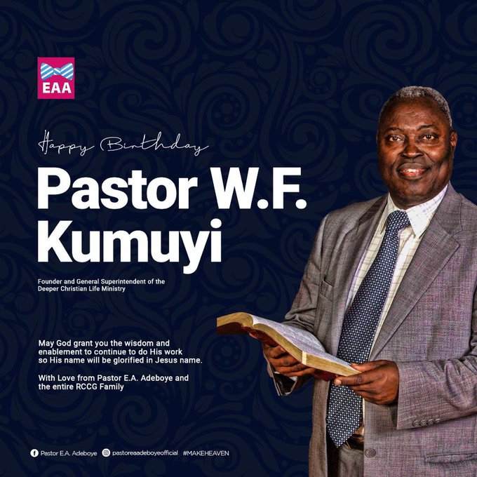 Pastor Adeboye celebrates Kumuyi as he clocks 79