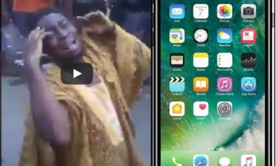Nigerian man weeps profusely after fraudsters sold fufu as iPhone 7+ to him at Computer Village (video)