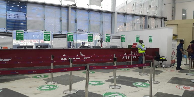 Terminal empty, passengers low as Lagos airport reopens (Photos ...
