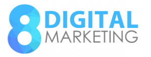 8 Digital Marketing Logo