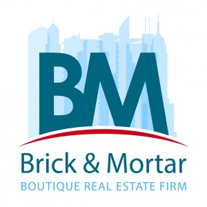 Brick & Mortar Real Estate Logo
