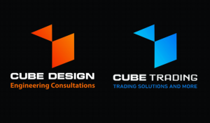 Cube Trading & Cube design  Logo
