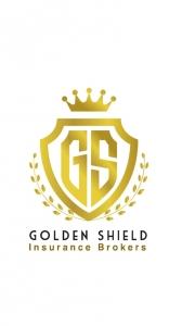 Golden Shield For Insurance Brokerage Logo