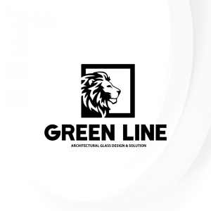 Green Line For Glass Metal Architecture Logo