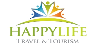 Happy life travel and tourism Logo