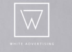 White Advertising  Logo