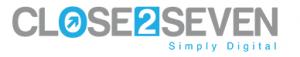 CLOSE2SEVEN Logo