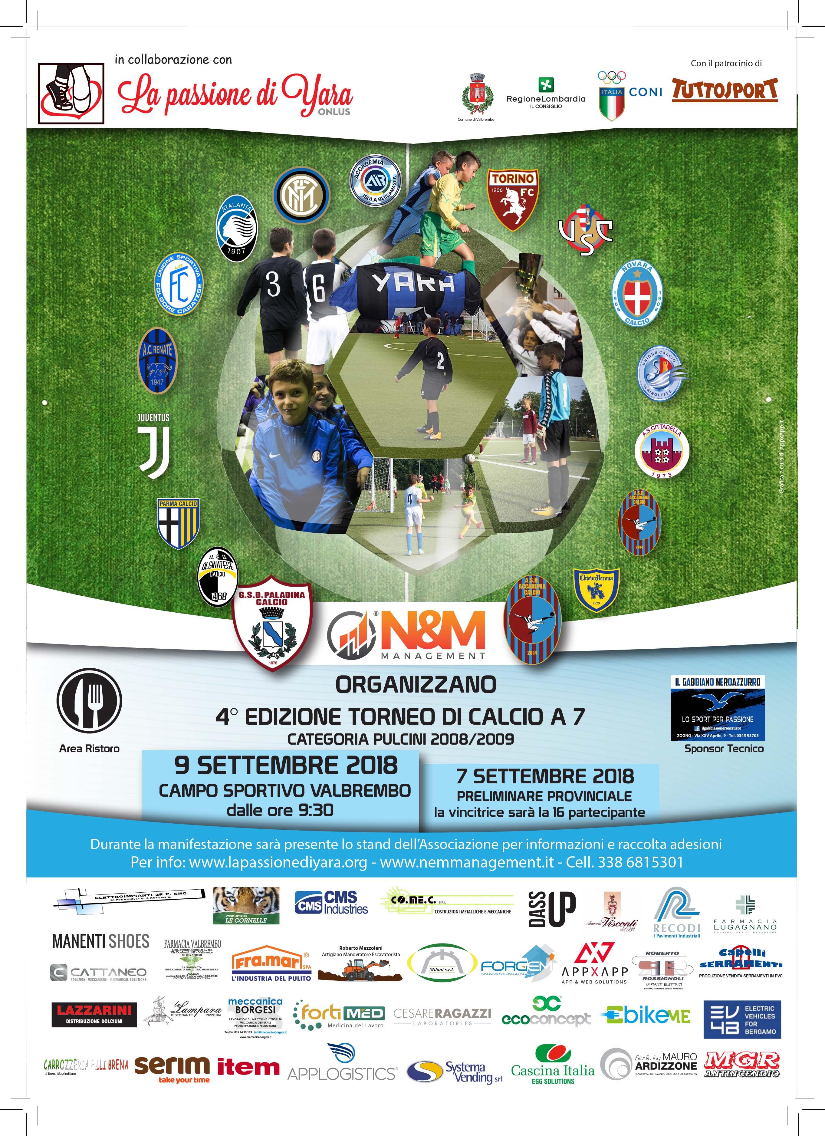 Torna a Valbrembo il Torneo Nazionale Pulcini