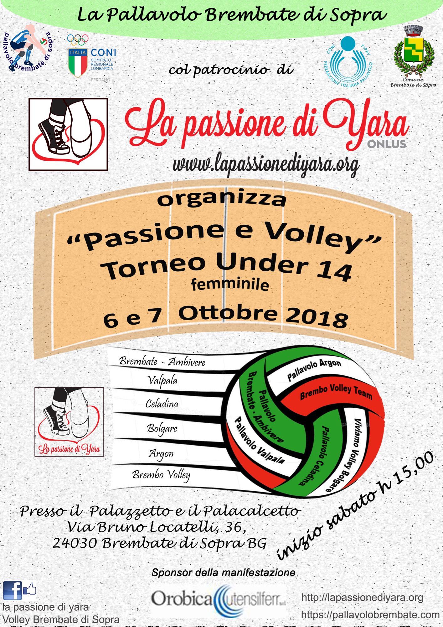 Passione e Volley: a Brembate un torneo il 6 e il 7 Ottobre
