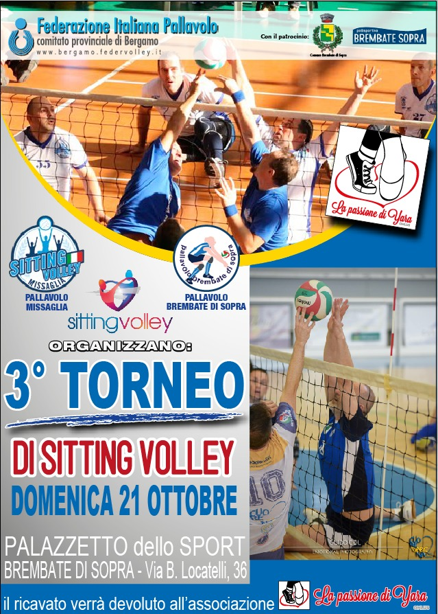 A Brembate il 3° Torneo di Sitting Volley