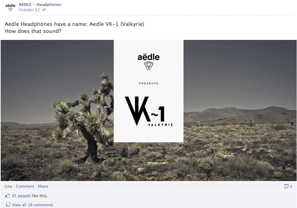 Aedle Headphones Fb Launch