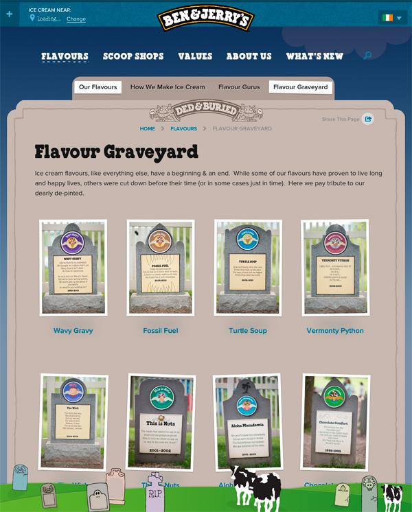 Ben Jerrys Flavour Graveyard
