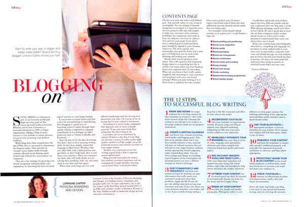 Blogging For Business Irish Tatler 2012