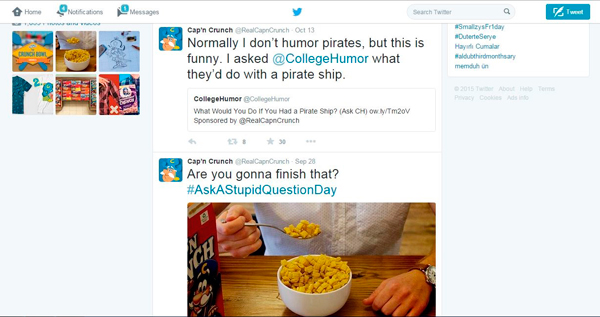 Capn Crunch Twitter Account
