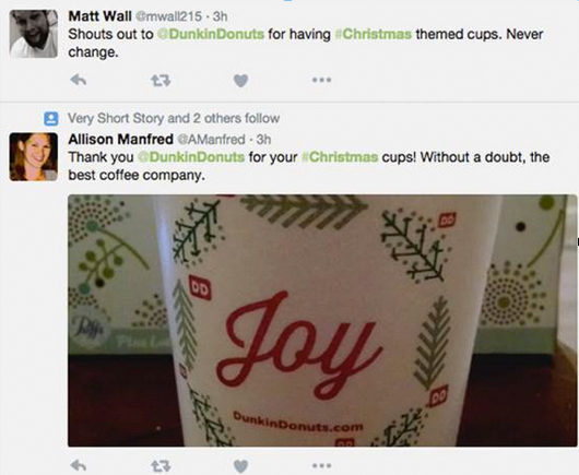 Dunkin' Donuts Shout Out Twitter