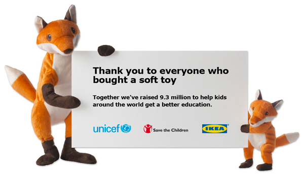 Ikea Unicef Soft Toy Thank You