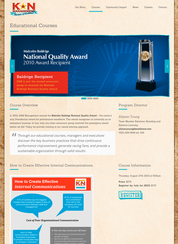 Kand N Mangement Quality Award