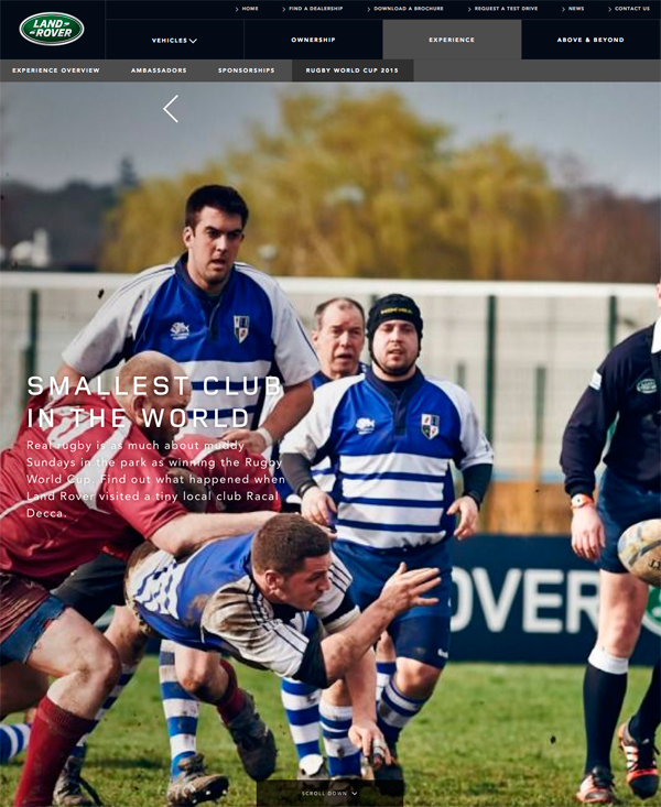 Land Rover Smallest Rugby Team In The World