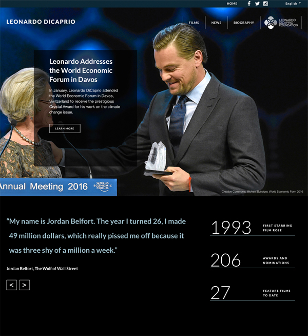 Leonardo Di Caprio World Economic Forum 600px