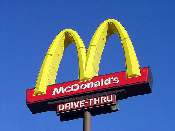 Mc Donalds Golden Arches 600px