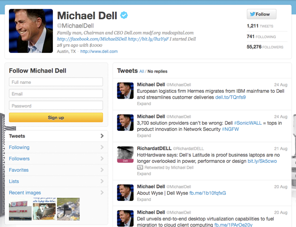 Michael Dell Twitter