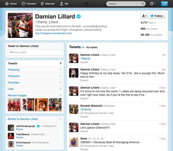 Nba Damian Lillard Twitter