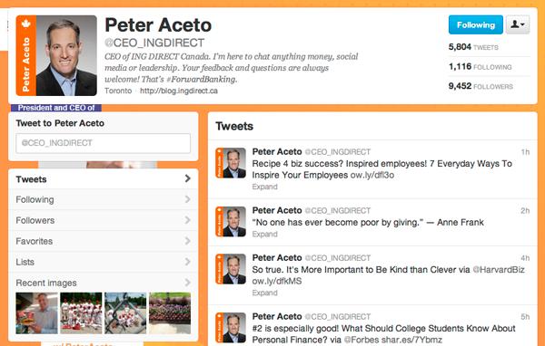 Peter Aceto Ing Direct