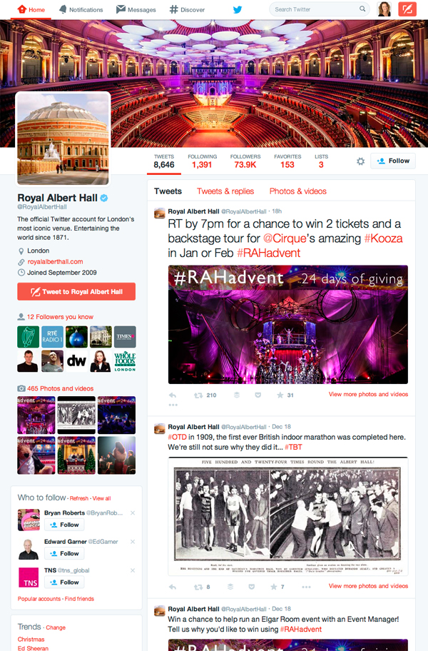 Royal Albert Hall Advent Calendar