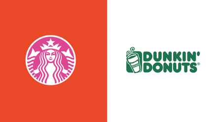 Starbucks Dunkin Donuts Colour Swap