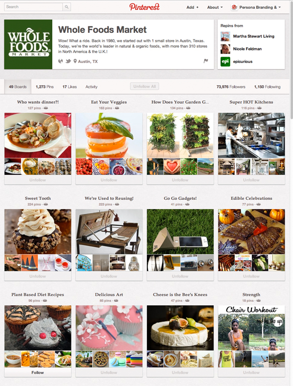 Whole Foods Pinterest