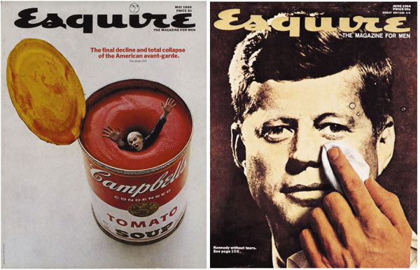 Esquire Covers Warhol Kenne