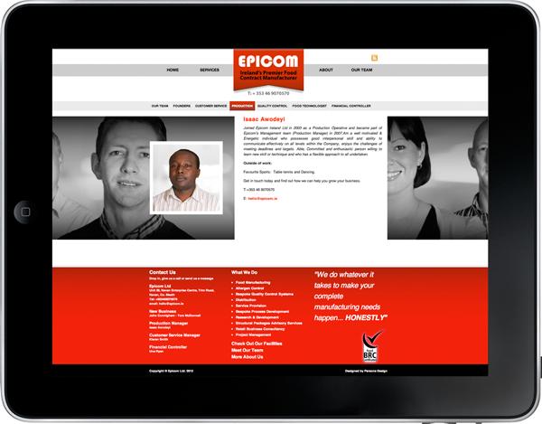 Ipad Epicom Website Isaac