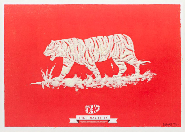 Kit Kat White Final Fifty Posters Tiger