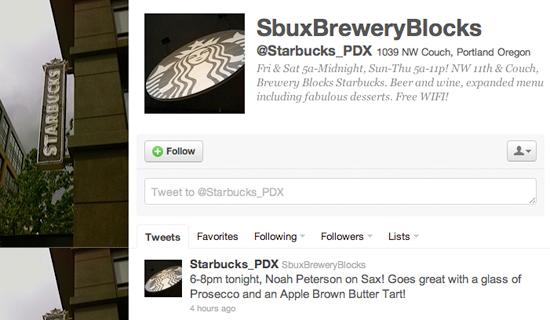 Starbucks Evenings Twitter