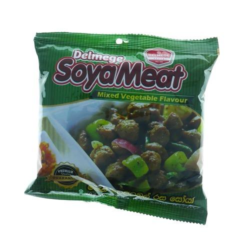 Delmege  Soya Meat mixed veg 90g - £0.59