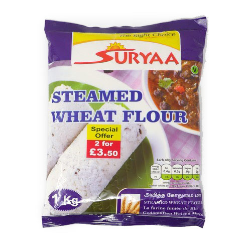 Suryaa Steamed Wheat Flour 1kg - £1.99