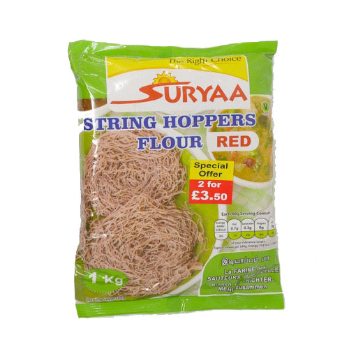 Suryaa String Hoppers Flour Red 1kg - £1.99