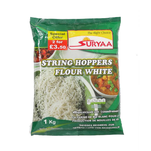 Suryaa String Hoppers Flour White 1kg - £1.99