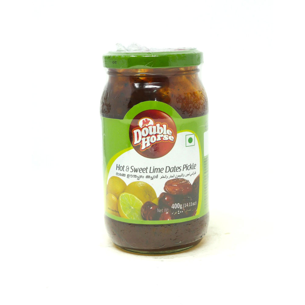 Double Horse Hot & Sweet Lime Dates Pickle 400g - £1.79