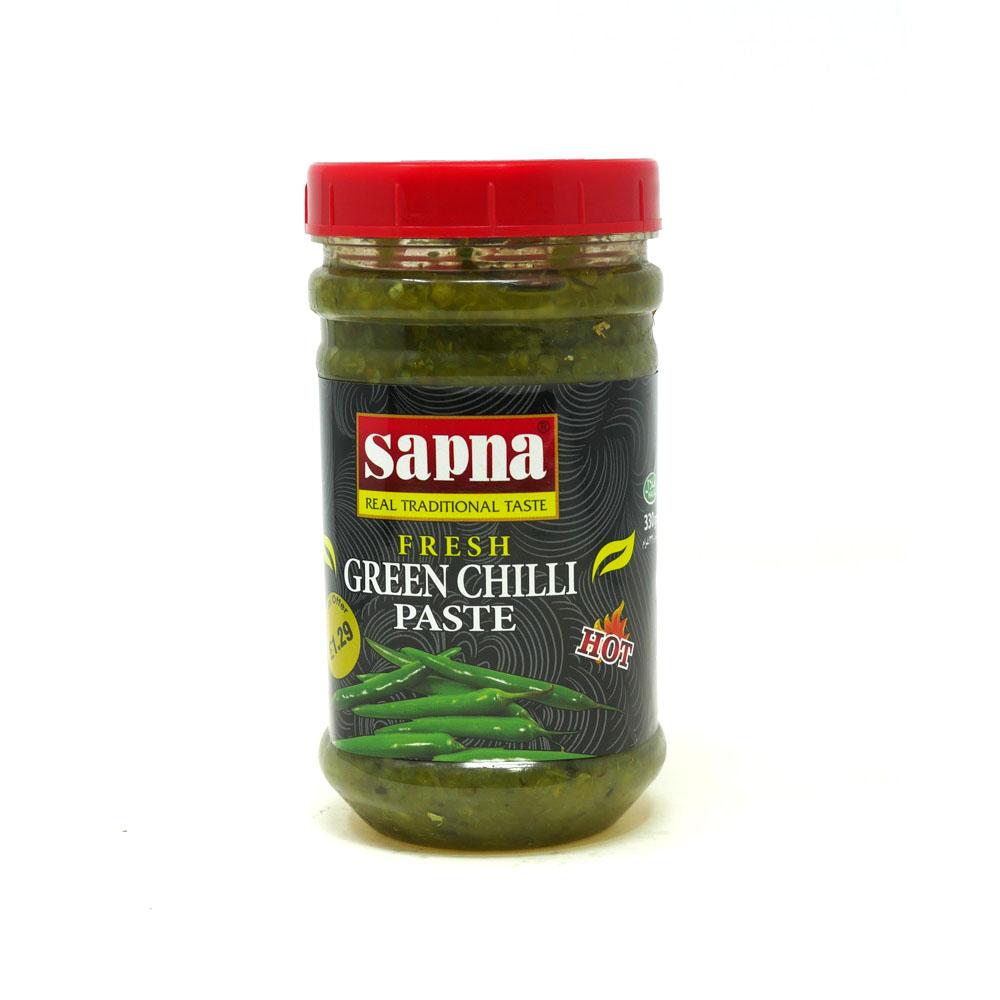 Sapna Green Chilli Paste 454g - £1.99