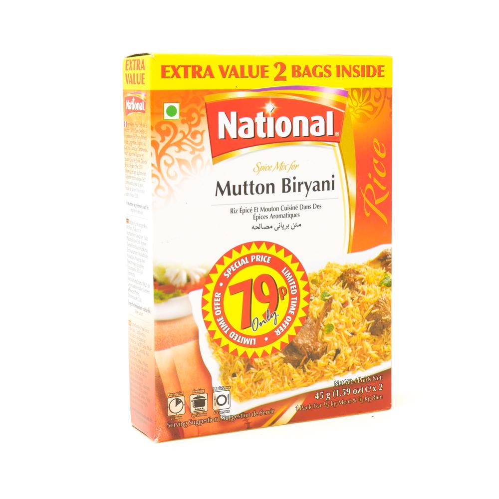 National Mutton Briyani Mix 90g - £0.89