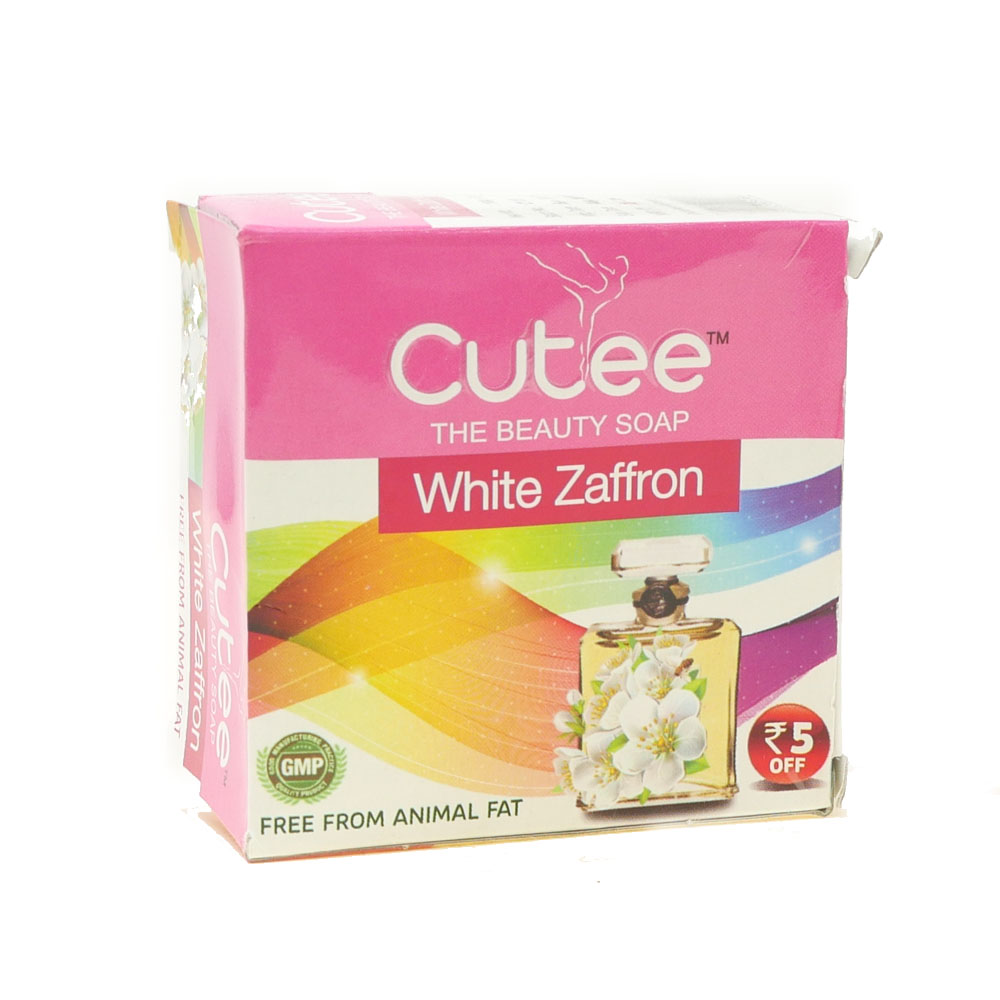 Cutee White Zaffron Soap 120g - £0.79