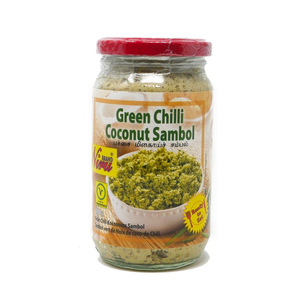 Niru Green Chilli Sambol 300g - £3.19