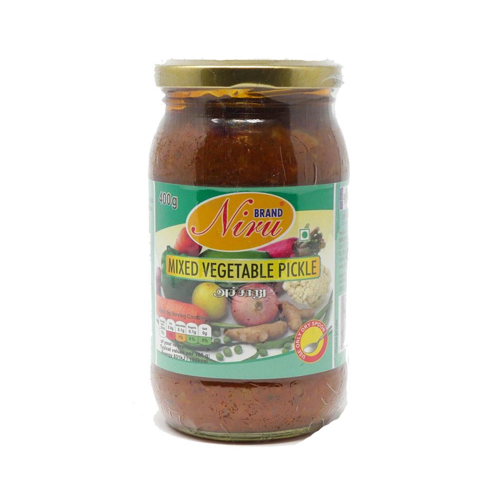 Niru Mixed Vegetable Pickle 400g - £1.99