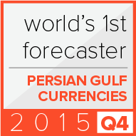 1st place in the world according to Bloomberg for forecasts of currencies from the Persian Gulf