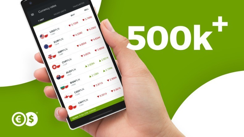 500 tysięcy pobrań aplikacji