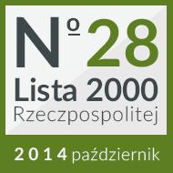 28 miejsce na w rankingu 'Lista 2000'