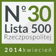 30 miejsce na w rankingu 'Lista 500'
