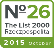 Ranked 26th on 'The List 2000'