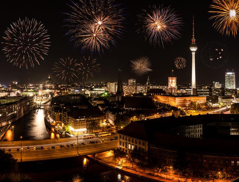 Fajerwerki nad Berlinem